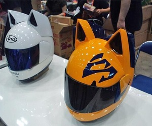 anime, capacete, and fofo image