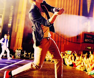 beautiful boy, fans, and microphone image