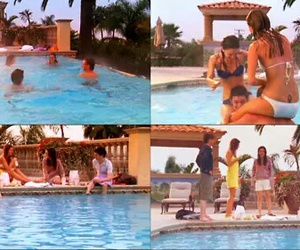 funny, the o.c., and swimming pool image