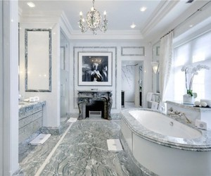 bathroom, house, and fancy image