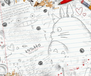 totoro and drawing image