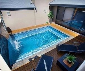 blue pool extreme house image