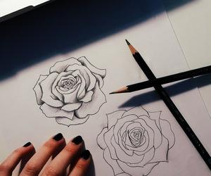 roses, art, and beautiful image