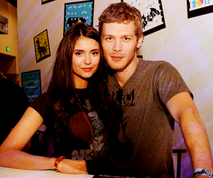 Nina Dobrev, joseph morgan, and the vampire diaries image