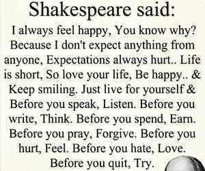 shakespeare, quotes, and life image