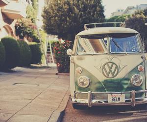 hippie, van, and volkswagen image