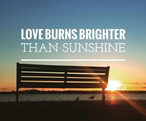 bench, font, and sunshine image