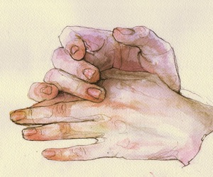 'hands', 'art', and 'pale' image