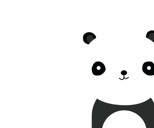 panda, wallpaper, and white image