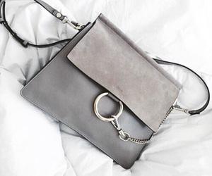 fashion, bag, and grey image