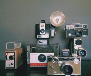 camera, old camera, and smile image