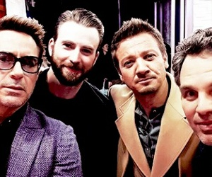 chris evans, jeremy renner, and iron man image