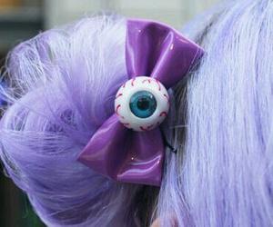 hair, eye, and purple image
