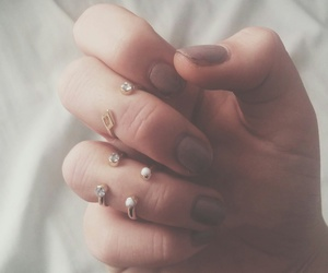boho, nails, and girl image