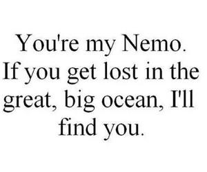 nemo, ocean, and quote image
