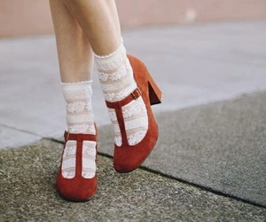shoes, red, and vintage image