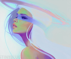 destinyblue, art, and white image