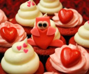 cupcakes, valentine, and cute image