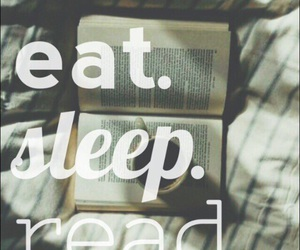 books, eat, and read image