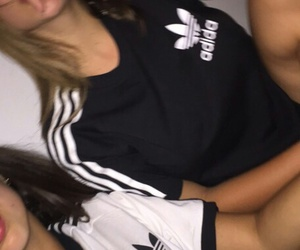 adidas, girl, and pale image