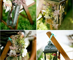 flowers and lantern image
