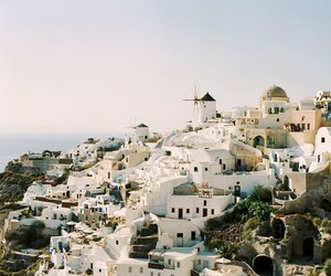 town, travel, and white image