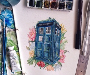 art, doctor who, and tardis image