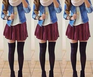 jean, outfit, and jupe image