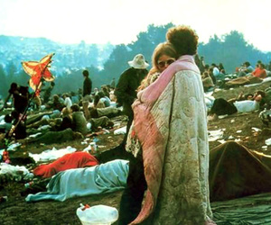 woodstock, couple, and hippie image