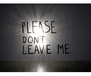 please, leave, and text image