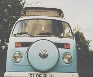 blue, car, and vintage image