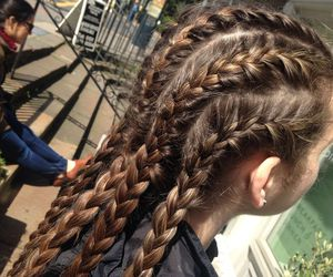 braid and girl image