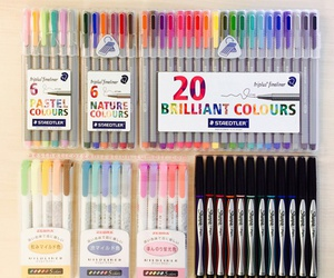 school, colors, and study image