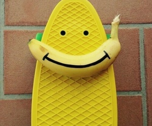 banana, yellow, and smile image