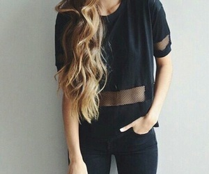 fashion, black, and hair image