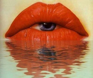 eye, lips, and art image