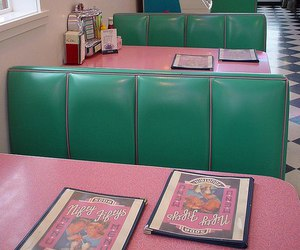 retro, vintage, and diner image