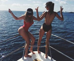 kendall jenner, khloe kardashian, and summer image