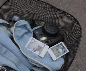 grunge, polaroid, and black image