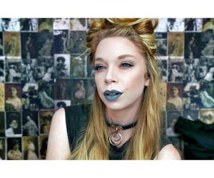 beauty, blue, and blue lips image