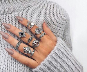 nails, fashion, and rings image
