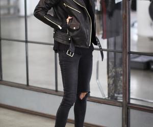 fashion, inspiration, and leather jacket image