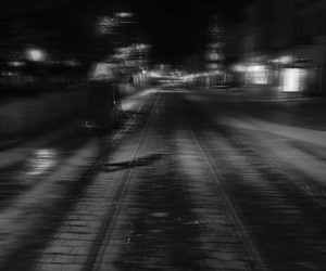 b&w, black and white, and blurry image