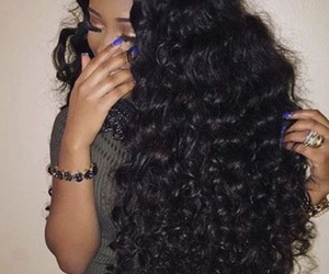 curly, long, and bundles image