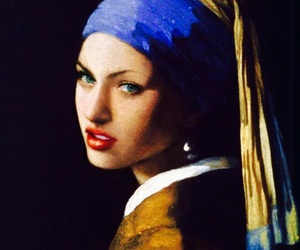 art, Girl with a Pearl Earring, and megan fox image