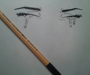 drawing, art, and cry image
