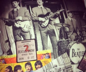 band, beatles, and black and white image