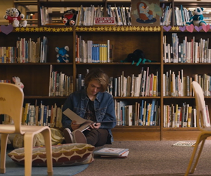 book, library, and movie image