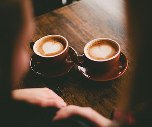 love, coffee, and photography image