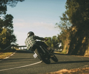 biker, freedom, and motorcycle image